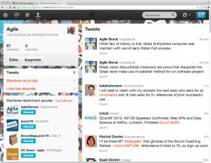 Liste agile sur Twitter