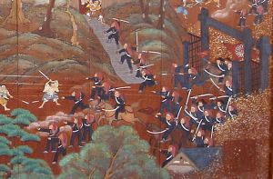 shaguma_troops_in_the_battle_of_ueno_at_ueno_park_temple